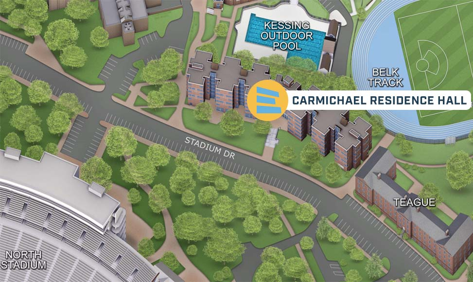Detailed directions to BeAM at Carmichael Hall